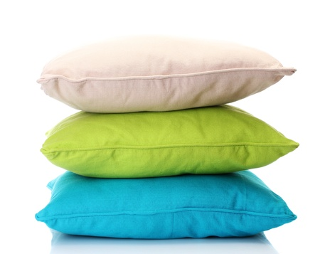 13514862 - bright pillows isolated on white