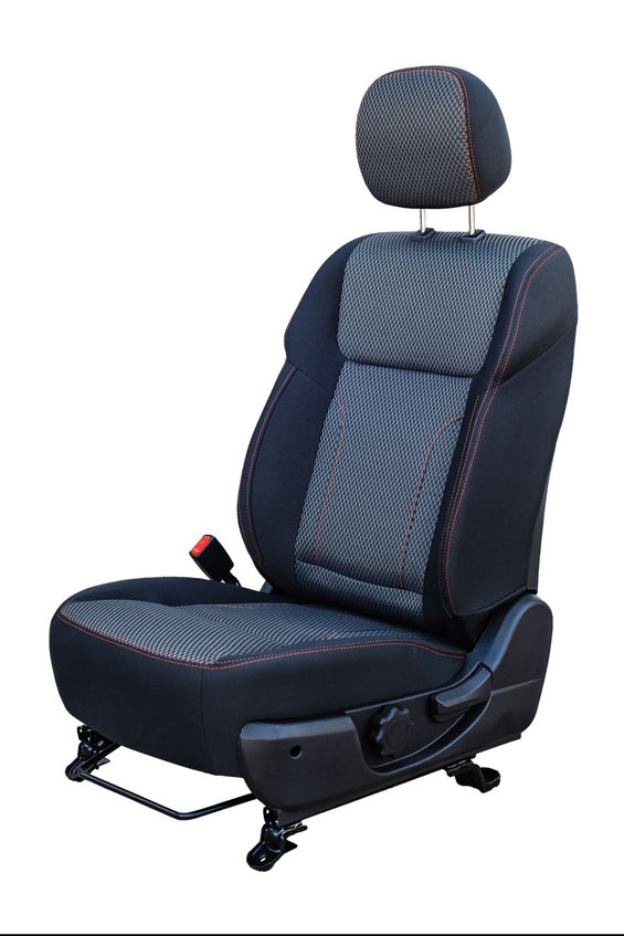 car front seat on a white background