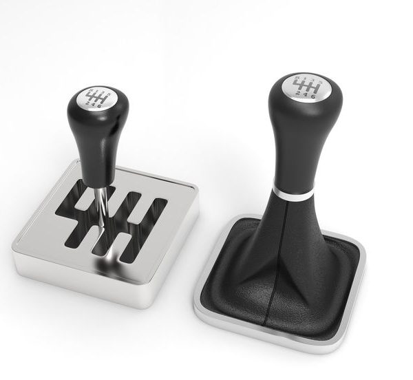 Gearbox shifter. 3D rendering.